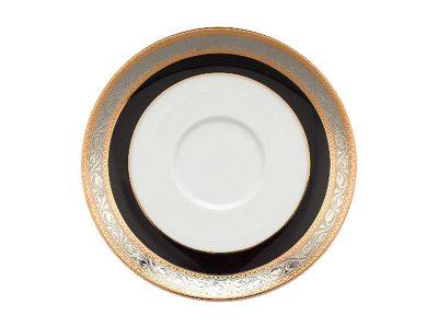 Dĩa lót chén 15 cm - Jasmine - Hoa Hồng Đen khắc nổi