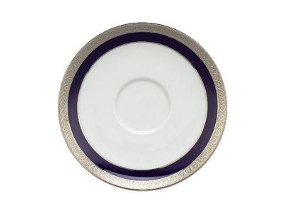 Dĩa lót chén 15 cm - Jasmine - Thiên Tuế Xanh khắc nổi