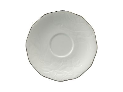 Dĩa lót chén 15 cm - Sen IFP - Chỉ Bạch Kim