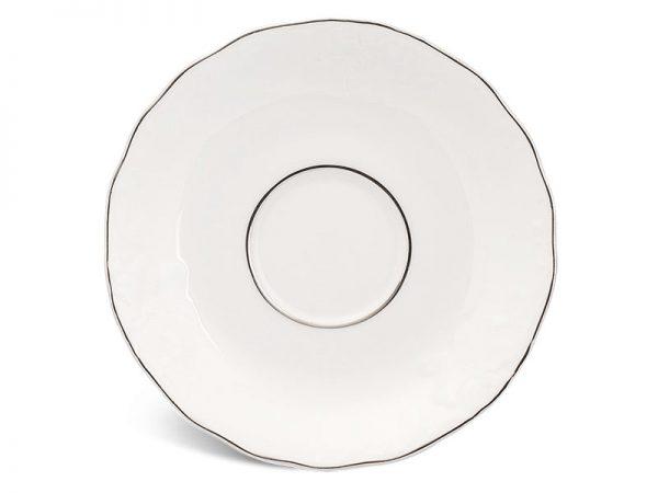 Dĩa lót chén 15.5 cm - Đài Các - Chỉ Bạch Kim