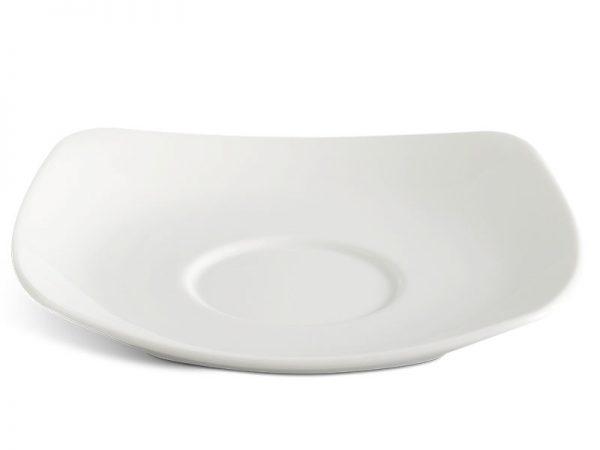 Dĩa lót chén vuông 15.5 cm - Jasmine Lys - Trắng Ngà