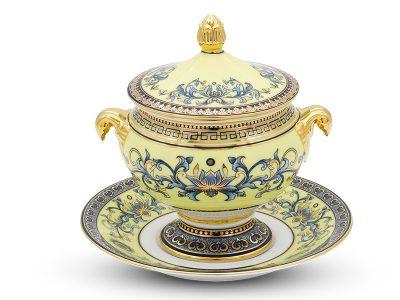 Dĩa lót thố súp 17 cm - Hoàng Cung - Hoàng Liên
