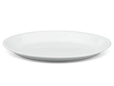 Dĩa oval ảo 25 cm - Daisy - Trắng