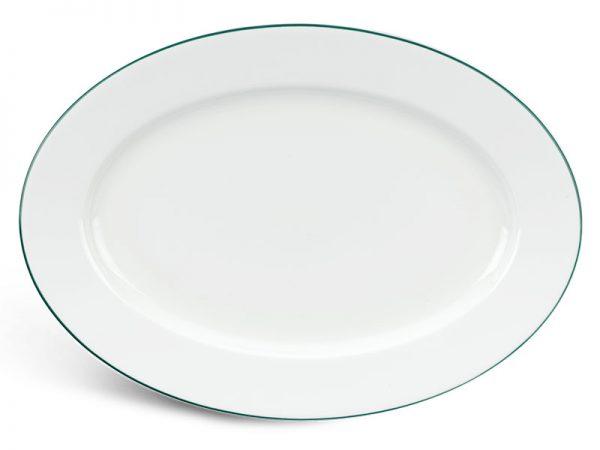 Dĩa oval 25 cm - Jasmine - Chỉ Xanh Lá