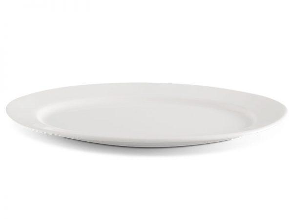 Dĩa oval 25 cm - Jasmine Lys - Trắng Ngà