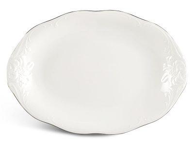 Dĩa oval 28 cm - Đài Các - Chỉ Bạch Kim