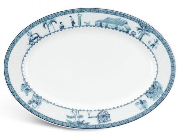 Dĩa oval 28 cm - Jasmine - Thôn Dã