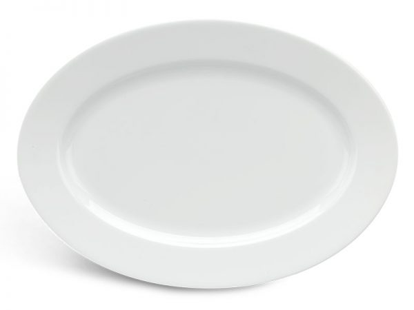 Dĩa oval 28 cm - Jasmine - Trắng