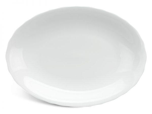 Dĩa oval 28 cm - Mẫu Đơn IFP - Trắng Ngà