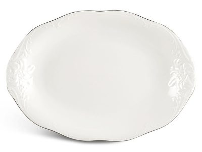 Dĩa oval 32 cm - Đài Các - Chỉ Bạch Kim