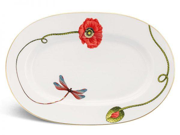 Dĩa oval 32 cm - Camellia - Kết Duyên
