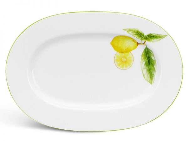 Dĩa oval 32 cm - Camellia - Quả Chanh