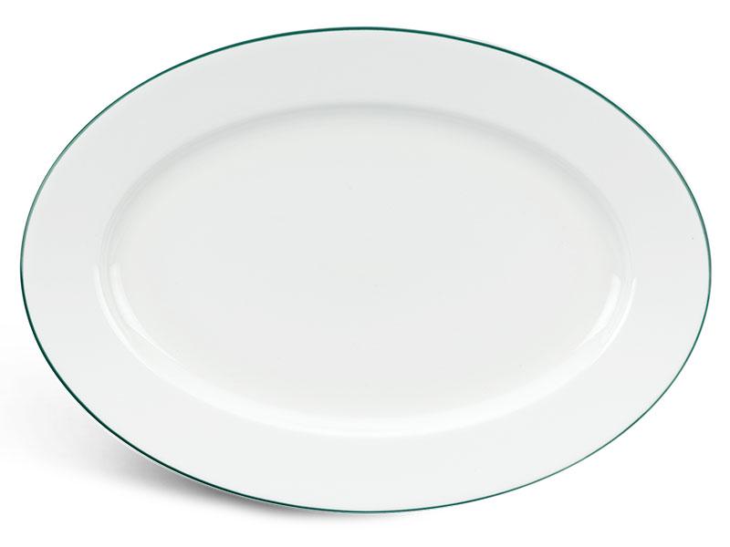 Dĩa oval 32 cm - Jasmine - Chỉ Xanh Lá
