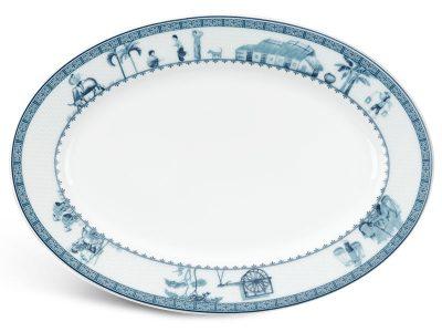 Dĩa oval 32 cm - Jasmine - Thôn Dã
