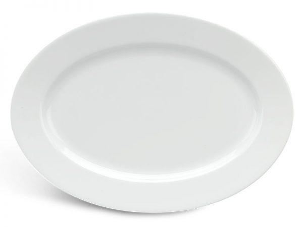 Dĩa oval 32 cm - Jasmine - Trắng
