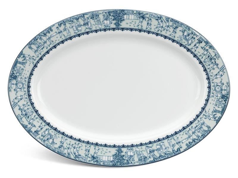 Dĩa oval 32 cm - Jasmine - Vinh Quy Nhạt