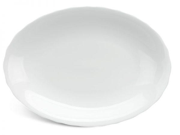 Dĩa oval 32 cm - Mẫu Đơn IFP - Trắng Ngà