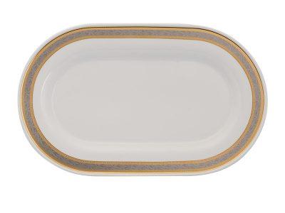 Dĩa oval 34 cm - Sago - Hoa Hồng