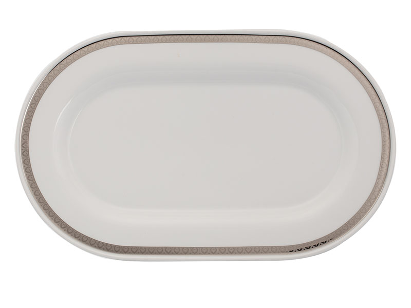 Dĩa oval 34 cm - Sago - Thiên Tuế