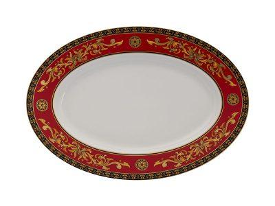 Dĩa oval 37 cm - Hoàng Cung - Quốc Sắc