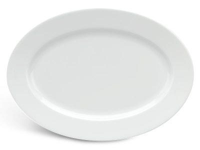 Dĩa oval 37 cm - Jasmine - Trắng