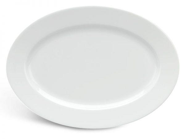 Dĩa oval 45 cm - Jasmine - Trắng