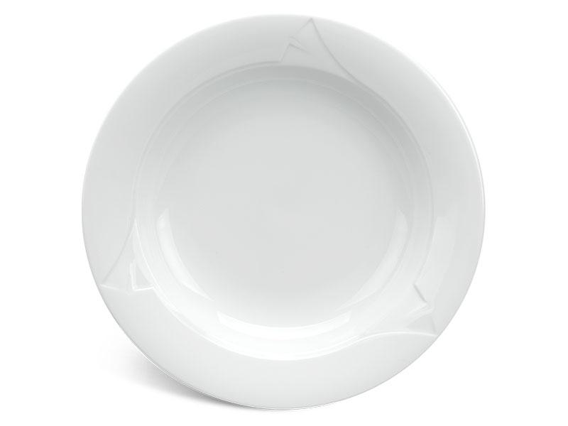 Dĩa súp 20 cm - Loa Kèn - Trắng