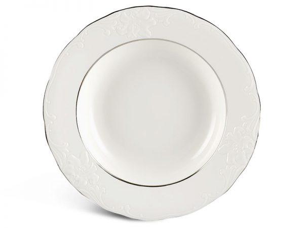 Dĩa súp 23 cm - Đài Các - Chỉ Bạch Kim