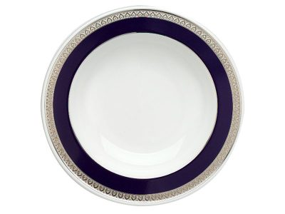 Dĩa súp 23 cm - Sago - Thiên Tuế Xanh khắc nổi