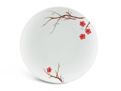 Dĩa tròn ảo 22 cm - Daisy - Hồng Mai