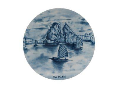 Dĩa tròn ảo 22 cm - Daisy - Vịnh Hạ Long