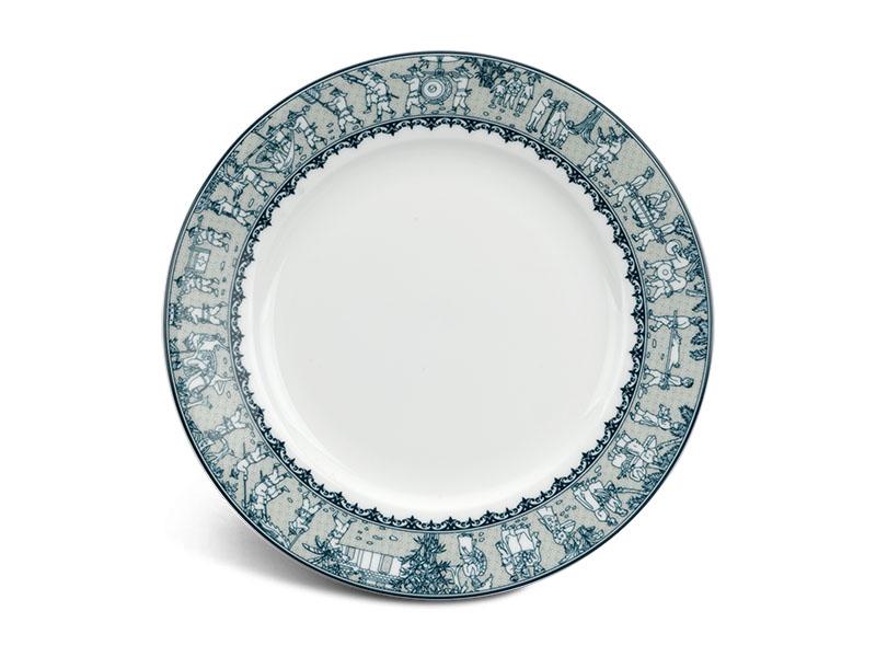 Dĩa tròn 18 cm - Jasmine - Vinh Quy Nhạt