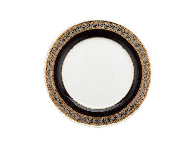 Dĩa tròn 20 cm - Sago - Hoa Hồng Đen khắc nổi