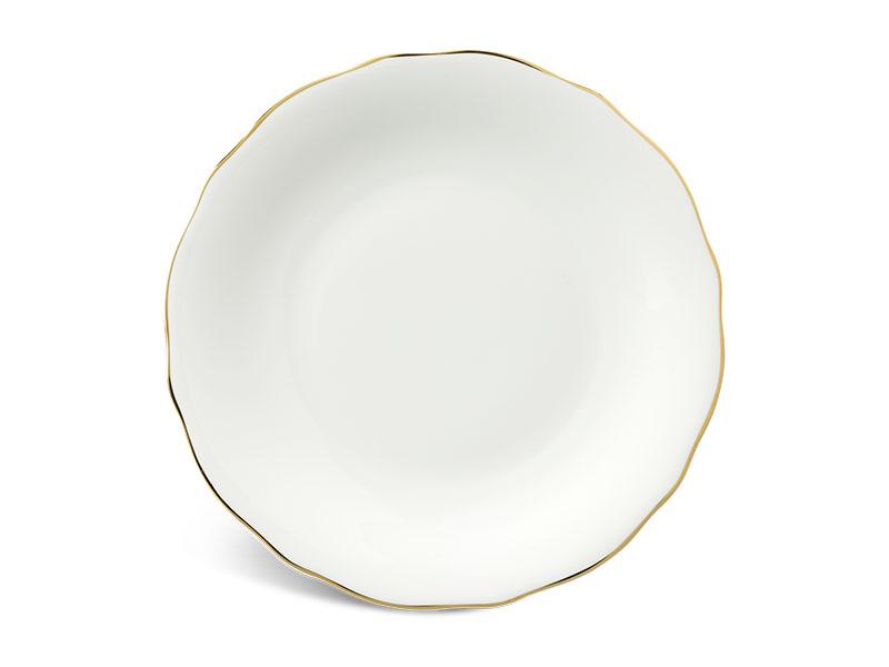 Dĩa tròn 22 cm - Mẫu Đơn IFP - Chỉ Vàng