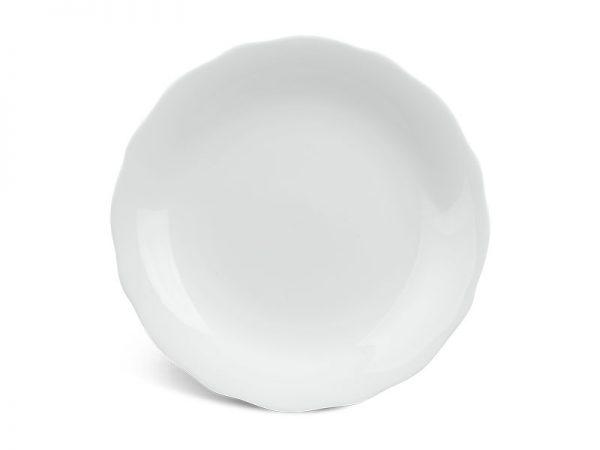 Dĩa tròn 22 cm - Mẫu Đơn IFP - Trắng Ngà