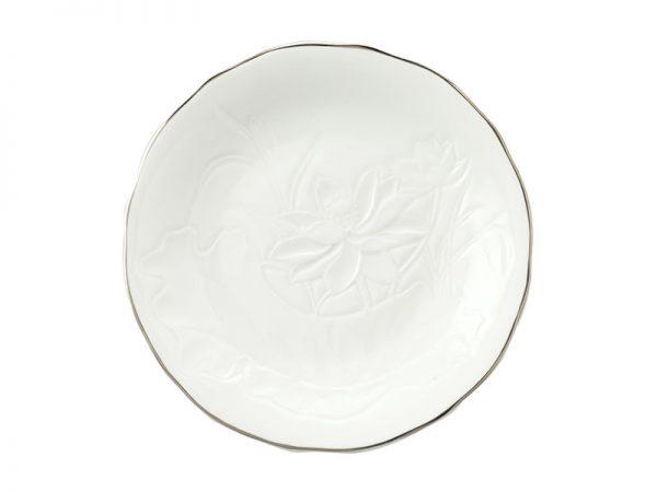 Dĩa tròn 22 cm - Sen IFP - Chỉ Bạch Kim