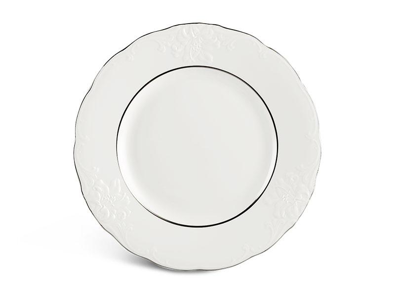 Dĩa tròn 25 cm - Đài Các - Chỉ Bạch Kim