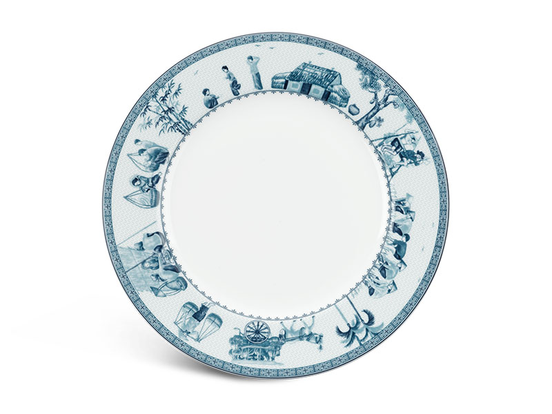 Dĩa tròn 25 cm - Jasmine - Thôn Dã