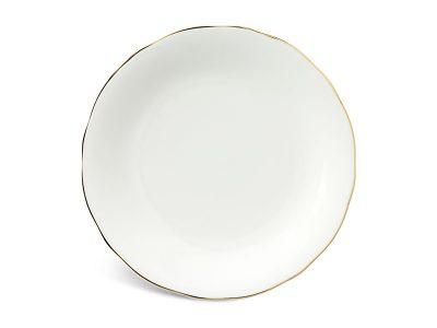 Dĩa tròn 25 cm - Mẫu Đơn IFP - Chỉ Vàng