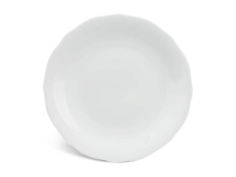 Dĩa tròn 25 cm - Mẫu Đơn IFP - Trắng Ngà