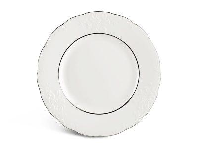 Dĩa tròn 27 cm - Đài Các - Chỉ Bạch Kim