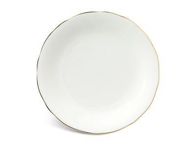 Dĩa tròn 27 cm - Mẫu Đơn IFP - Chỉ Vàng