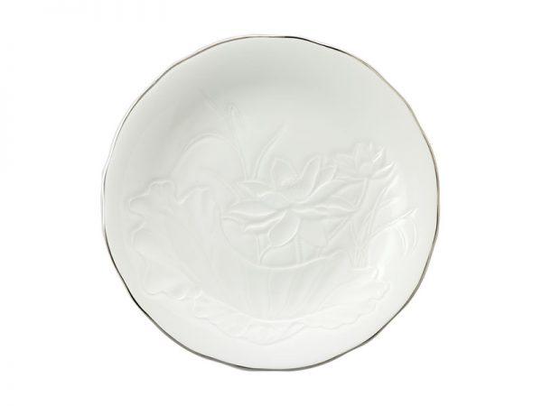 Dĩa tròn 27 cm - Sen IFP - Chỉ Bạch Kim