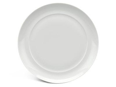 Dĩa tròn lòng phẳng 22 cm - Anh Vũ Ly's - Trắng Ngà