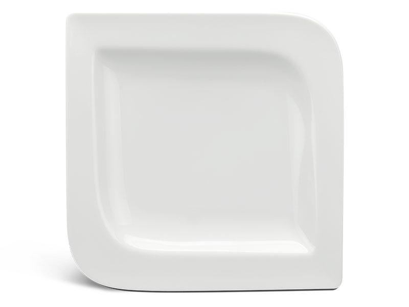 Dĩa vuông 25.5 cm - Anh Vũ Ly's - Trắng Ngà