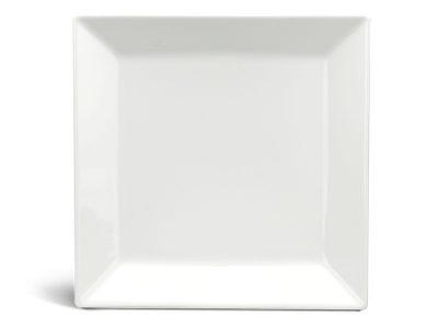 Dĩa vuông lá 16 cm - Daisy Ly's - Trắng Ngà