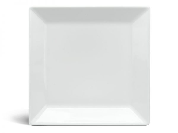 Dĩa vuông lá 18 cm - Daisy - Trắng