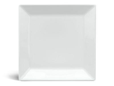 Dĩa vuông lá 22 cm - Daisy - Trắng