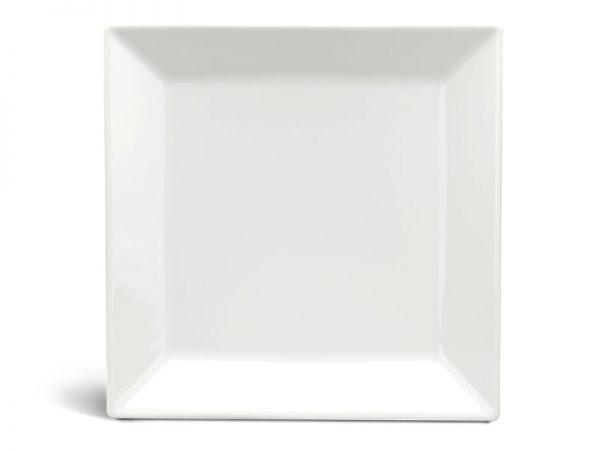 Dĩa vuông lá 22 cm - Daisy Ly's - Trắng Ngà