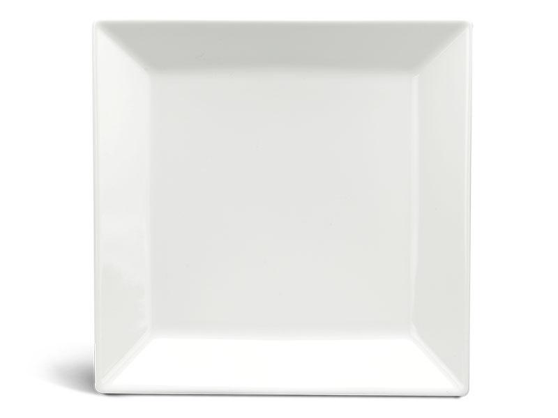 Dĩa vuông lá 25 cm - Daisy Ly's - Trắng Ngà